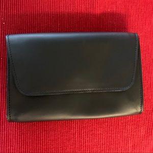 NWT October Jaipur Black Vegan Leather Clutch